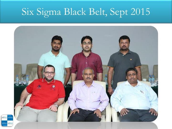 Six sigma black belt sept 2015