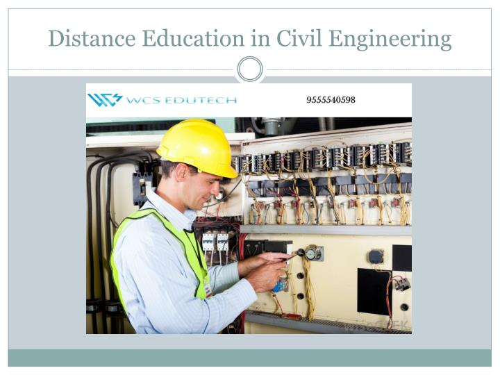 Distance education in civil engineering