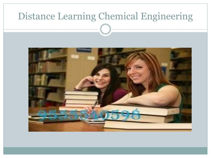 Distance Learning Chemical Engineering