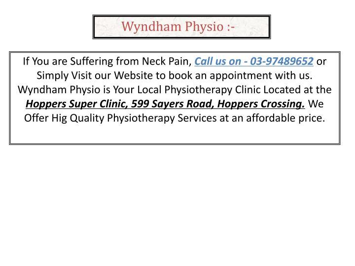 Wyndham Physio :-