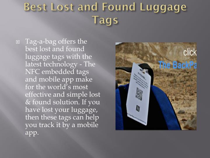 Best lost and found luggage tags