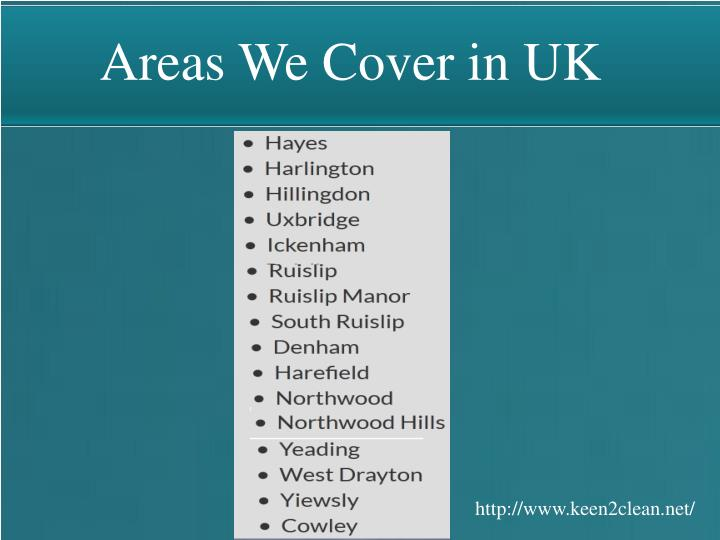 Areas We Cover in UK