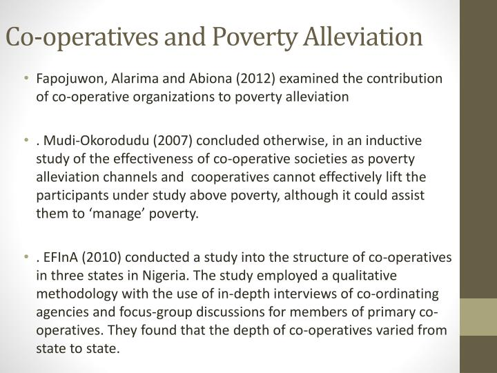 Co-operatives and Poverty