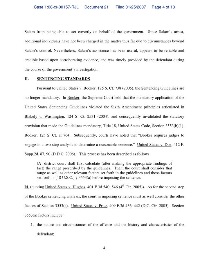 Case 1:06-cr-00157-RJL     Document 21      Filed 01/25/2007     Page 4 of 10