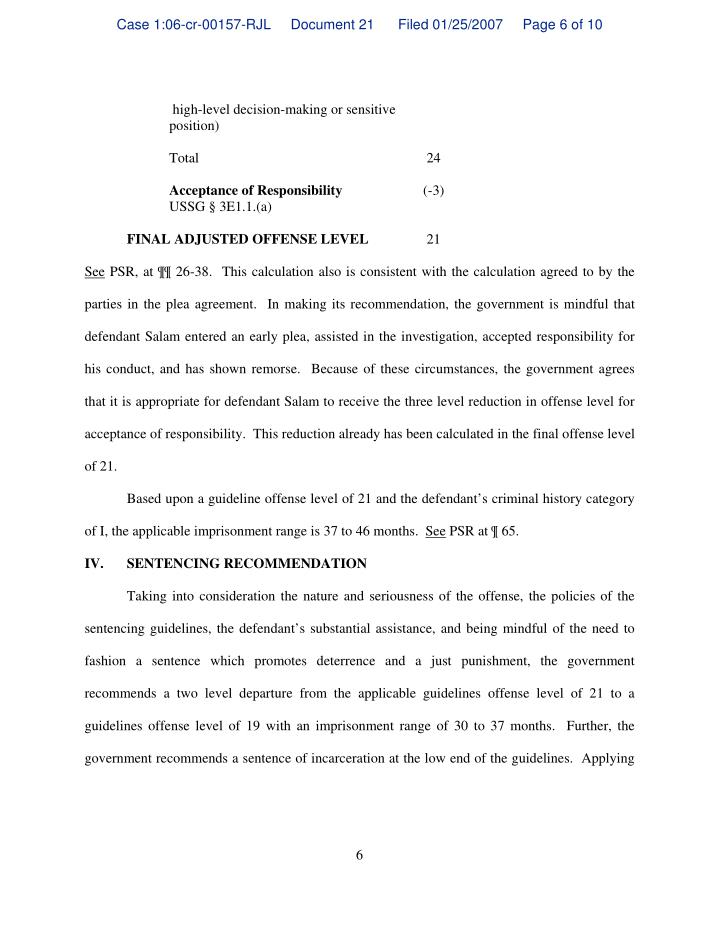 Case 1:06-cr-00157-RJL     Document 21      Filed 01/25/2007     Page 6 of 10