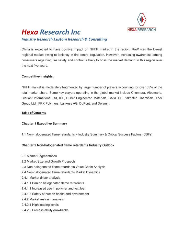 Hexa Research Inc