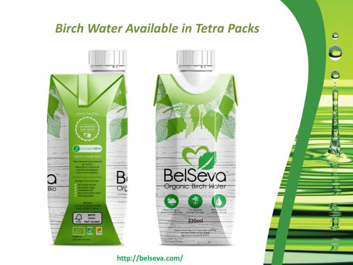 Birch Water Available in Tetra Packs