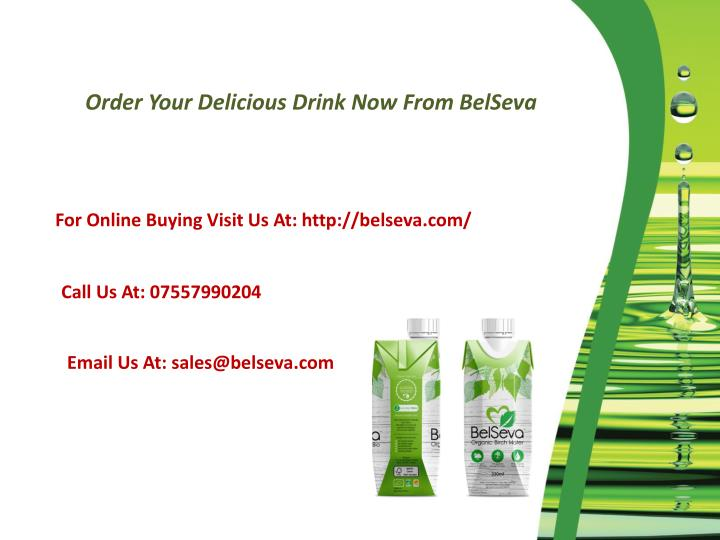 Order Your Delicious Drink Now From BelSeva