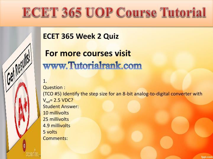 ECET 365 UOP