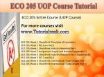 eco 205 uop course tutorial