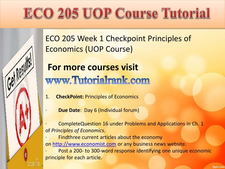 Eco 205 uop course tutorial1