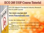 eco 205 uop course tutorial12