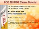 eco 205 uop course tutorial15