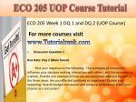 eco 205 uop course tutorial2