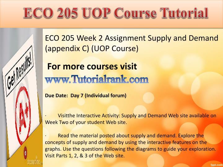 ECO 205 UOP