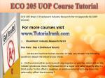 eco 205 uop course tutorial5