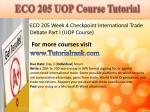 eco 205 uop course tutorial8