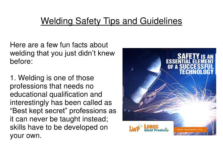 Welding safety tips and guidelines1
