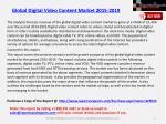 global digital video content market 2015 20191