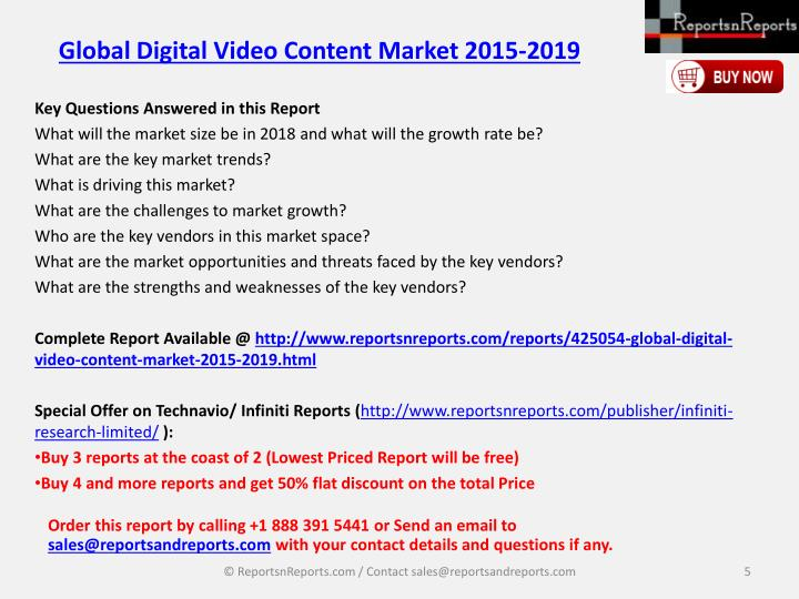 Global Digital Video Content Market 2015-2019