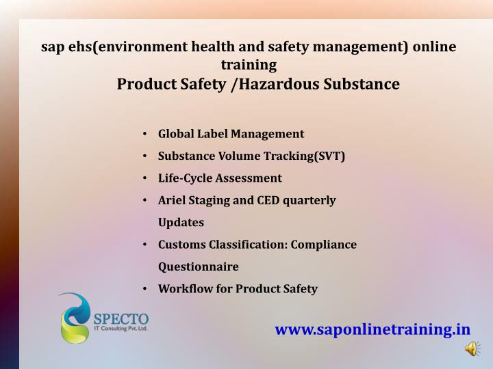 sap ehs(environment health and safety management) online training