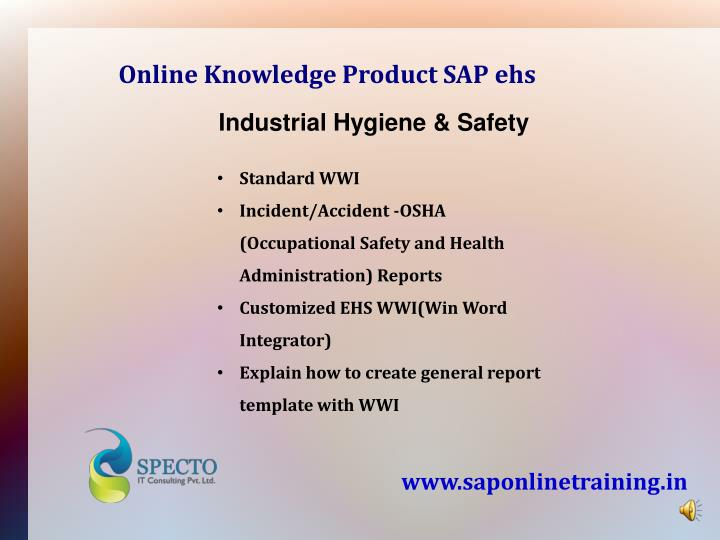 Online Knowledge Product SAP ehs