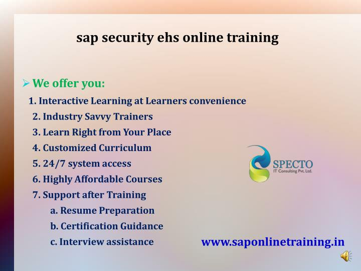 sap security ehs online training