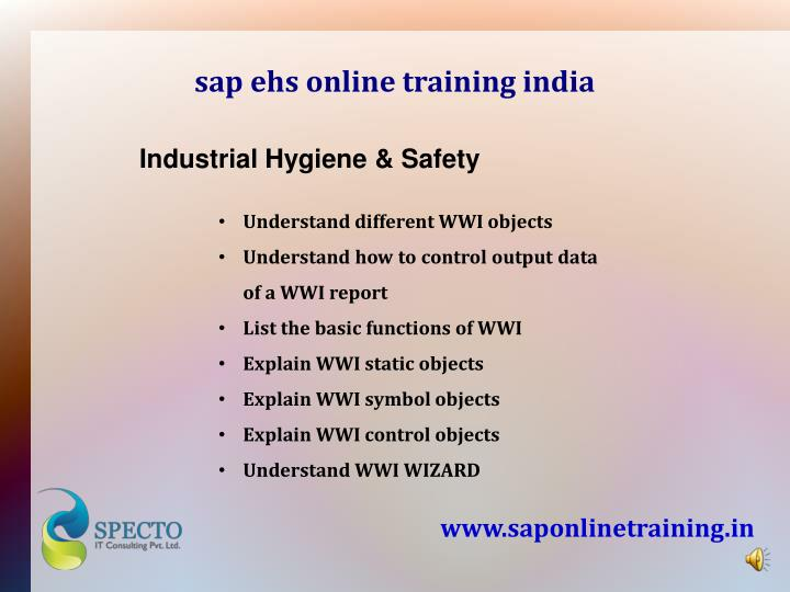 sap ehs online training india