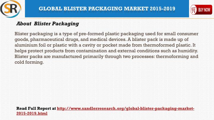 Blister packaging is a type of pre-formed plastic packaging used for small consumer goods, pharmaceutical drugs, and medical devices. A blister pack is made up of