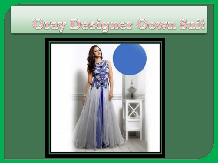 Gray Designer Gown