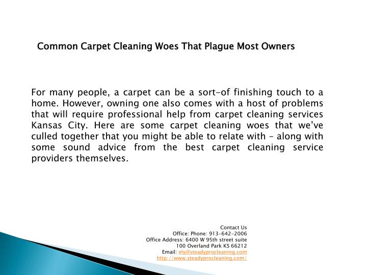 Common Carpet Cleaning Woes That Plague Most Owners