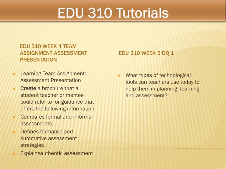 EDU 310