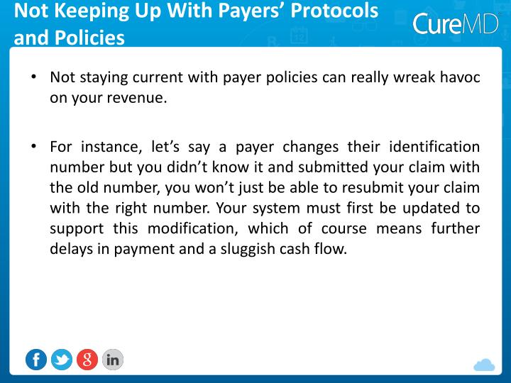 Not Keeping Up With Payers' Protocols and Policies