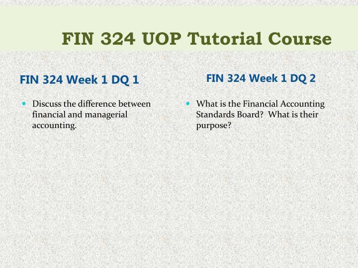 FIN 324 UOP