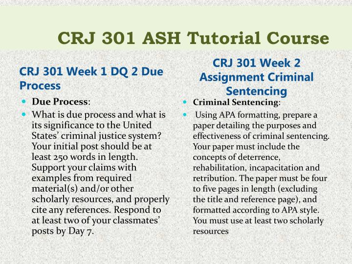 Crj 301 ash tutorial course2