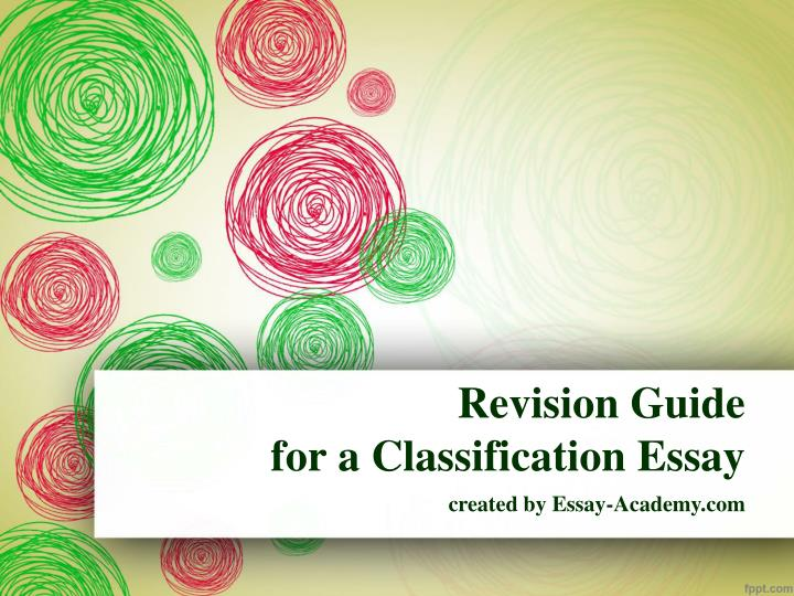 essay revision guidlines