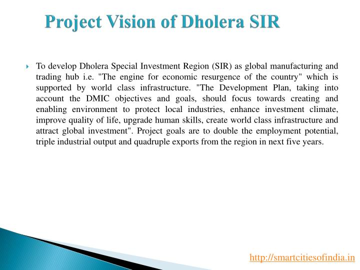 Project Vision of Dholera SIR