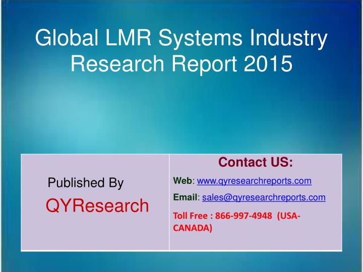 Global LMR Systems Industry