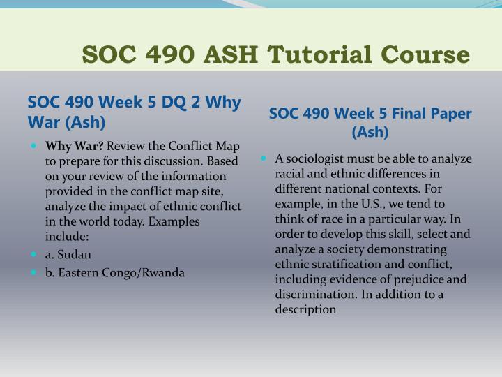 SOC 490 ASH