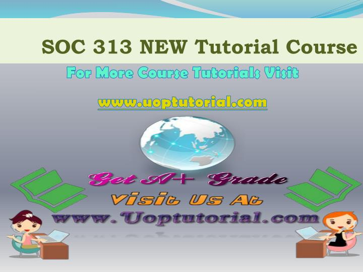 Soc 313 new tutorial course