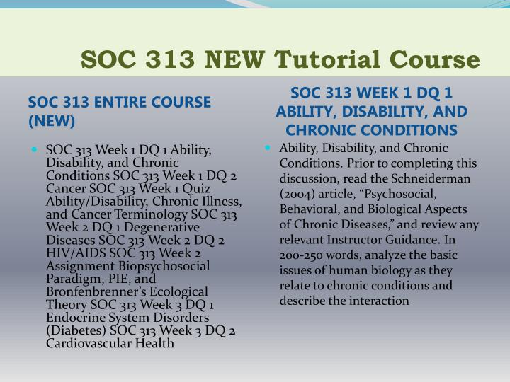 Soc 313 new tutorial course1