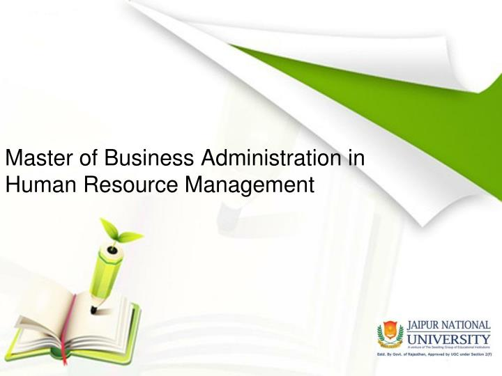 Master of Business Administration in