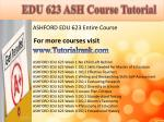 edu 623 ash course tutorial