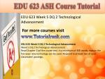 edu 623 ash course tutorial15