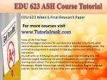 edu 623 ash course tutorial18