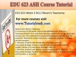 edu 623 ash course tutorial8