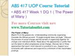 abs 417 uop course tutorial1