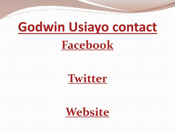 Godwin Usiayo contact