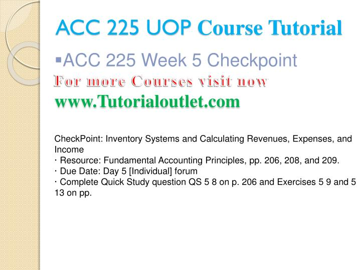 ACC 225 UOP