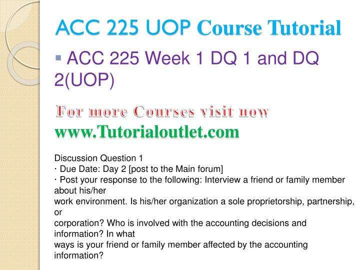 Acc 225 uop course tutorial2